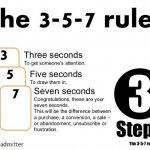 Stap 3 De 3-5-7 regel Admitter