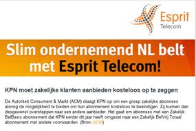 Esprit Telecom   Overstappen