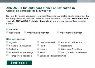 ABN AMRO | Insights nieuwsbrief