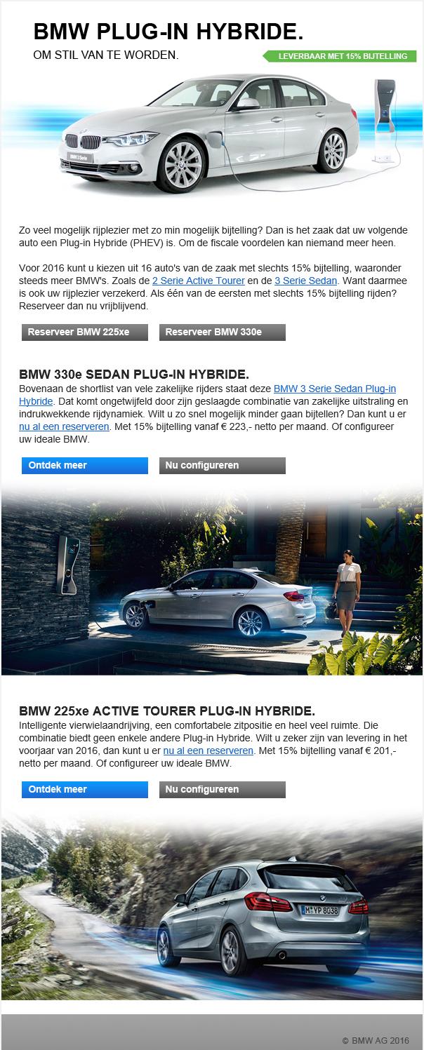 BMW | Plugin Hybride modellen
