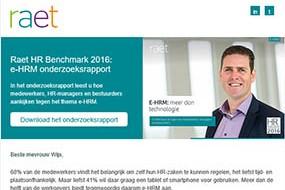Raet | eHRM benchmark rapport