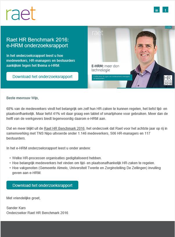 Raet   eHRM benchmark rapport