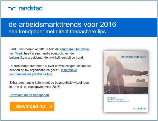 Randstad | Trendpaper 2016