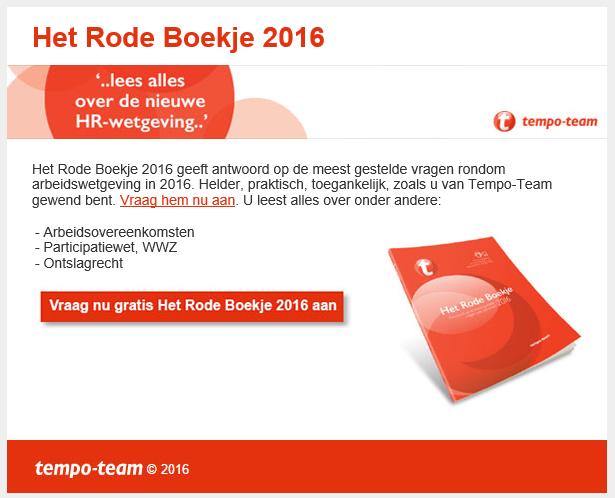 Tempo-Team | Rode Boekje