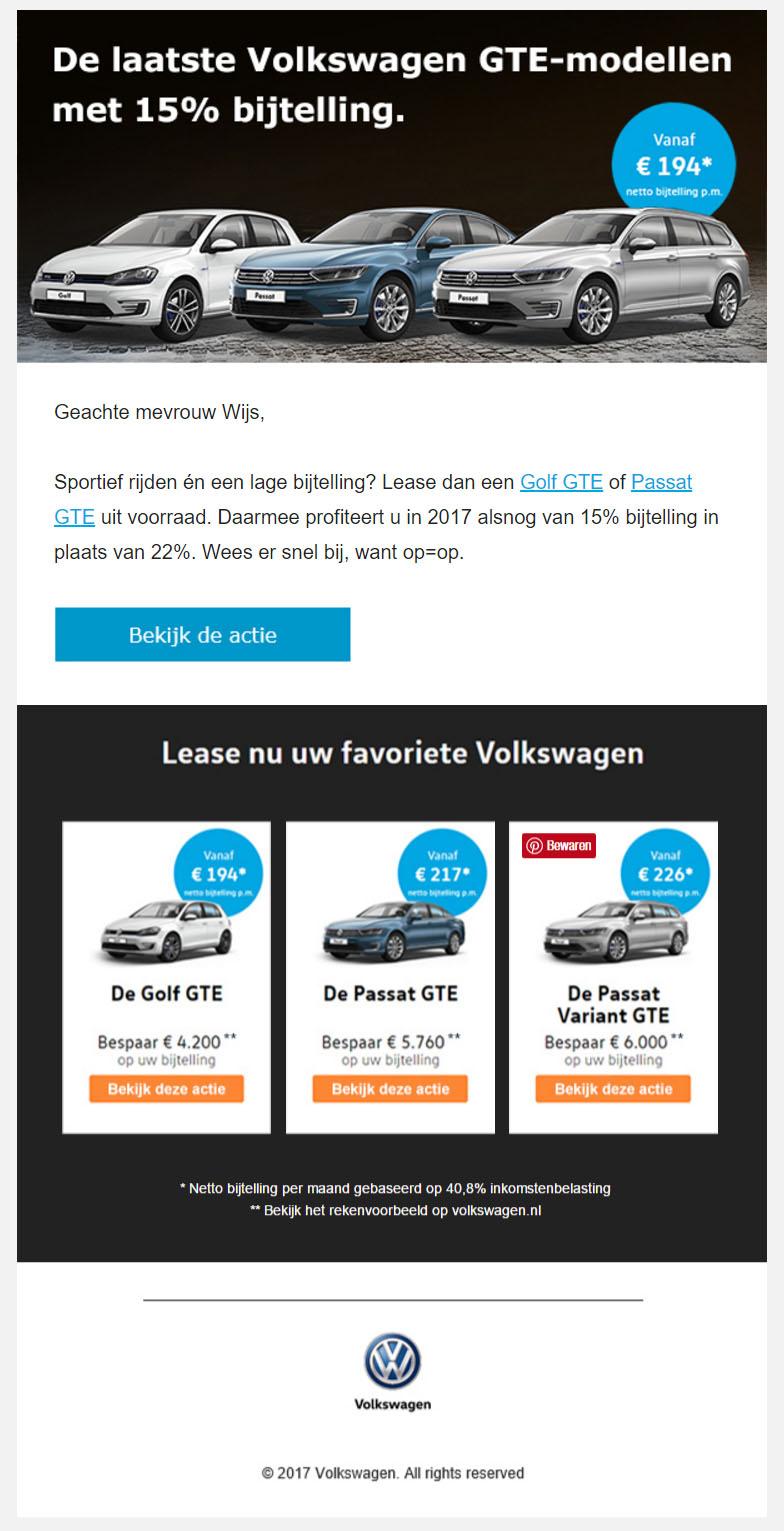 Volkswagen | GTE Modellen