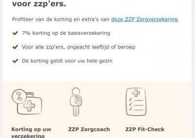 CZ Zorgverzekering ZZP-ers
