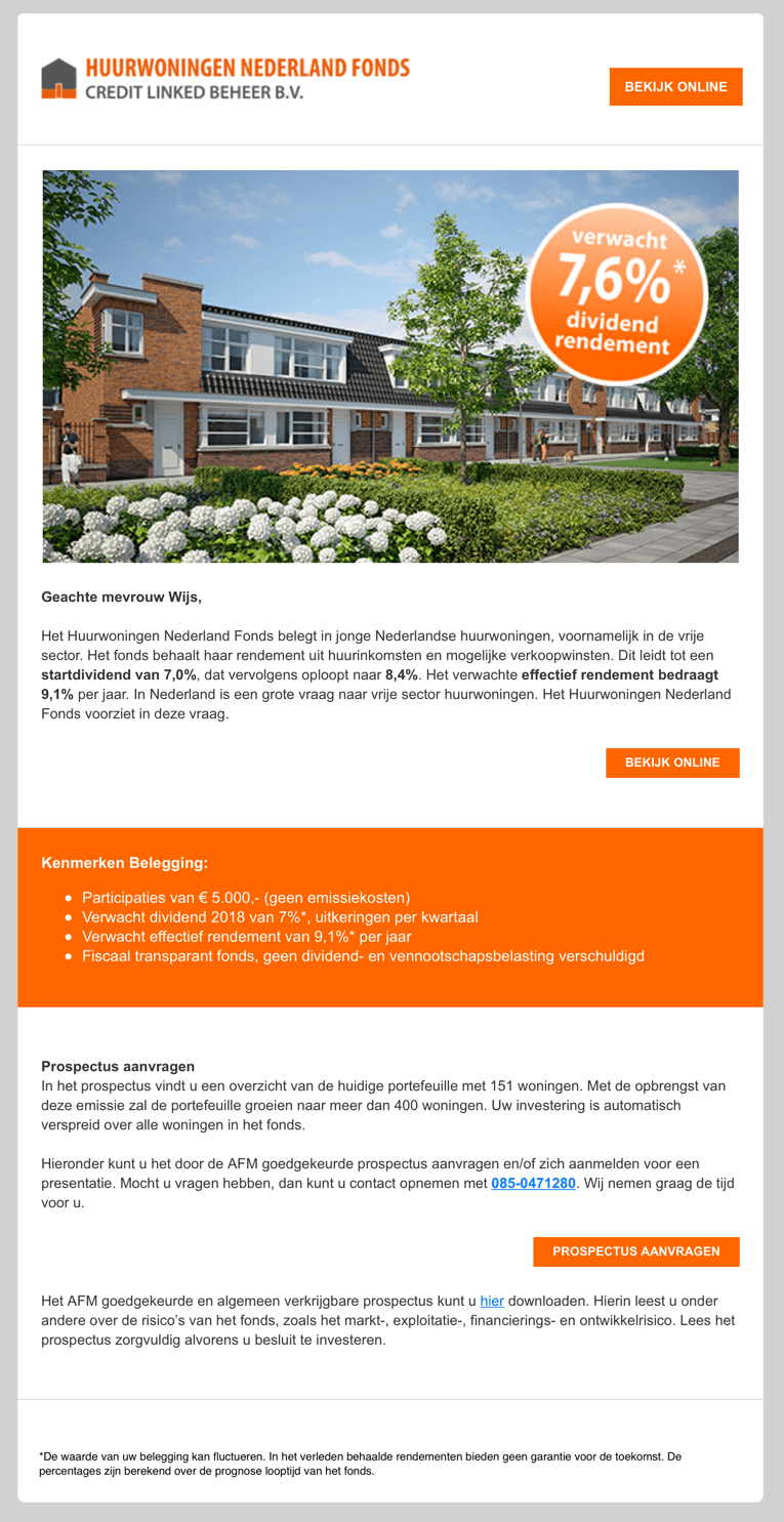 Huurwoningen Nederland Fonds