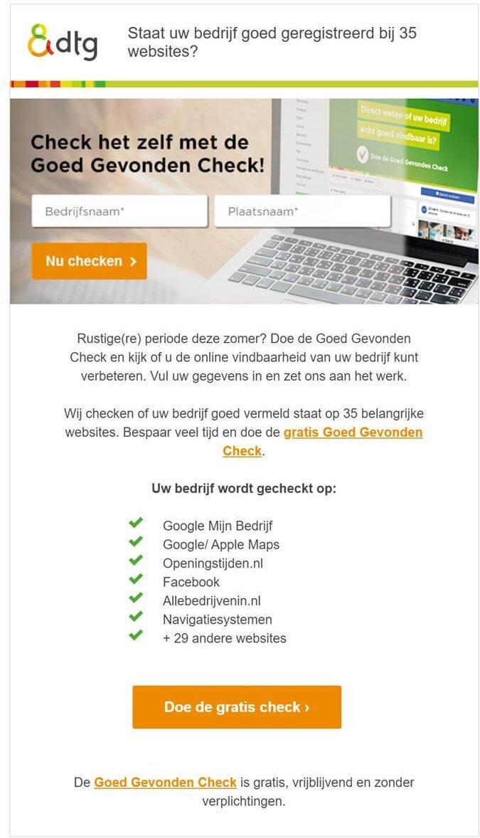 DTG | Goed Gevonden check