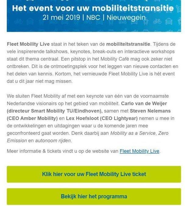 Fleet mobility Live congres