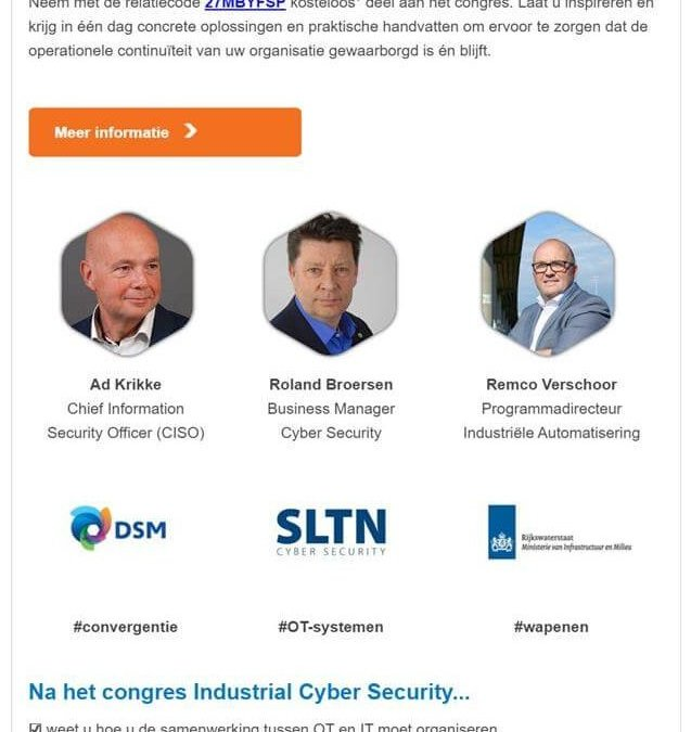 Industrial Cyber Security congres