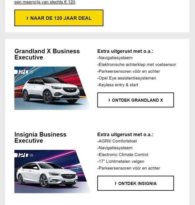 Opel | 120 jaar acties